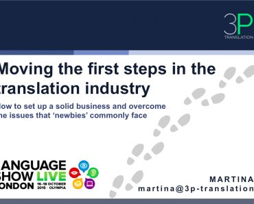 Moving the first steps in the translation industry: the slides